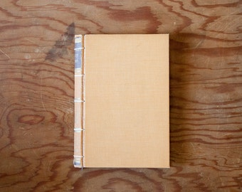 andersen's fairy tales yellow handmade journal // hard bound journal