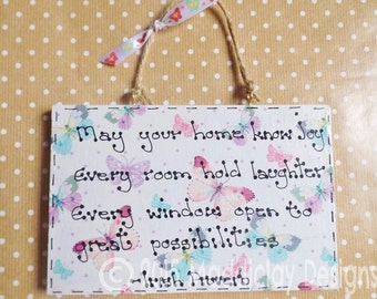 New Home Housewarming Quote Wall Hanging Plaque Irish Proverb Home Blessing Gift