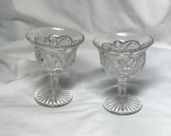 Vintage glass sherbet dishes