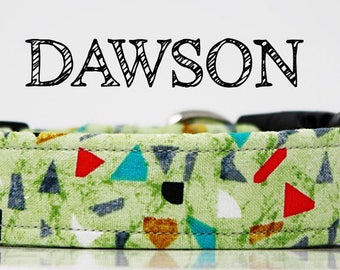 Dawson - Geometric Multicolor Shapes Handmade Collar