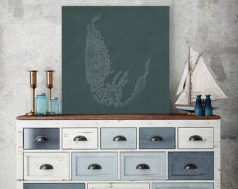 Kelp on Canvas, Underwater Creatures, Sea Creature, Marine Canvas, Kelp Wall Art, Kelp Wall Decor, Kelp on Canvas