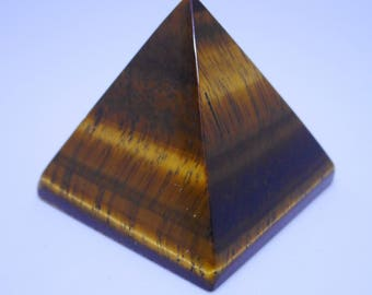 Tigers Eye Pyramid -crystals and gemstone for healing - reiki and full moon charged