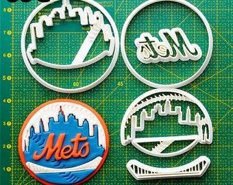 New  York  Mets Cookie Cutter New  York  Mets Fondant Cutter New  York  Mets Party  New  York  Mets Birthday New  York  Mets Baby
