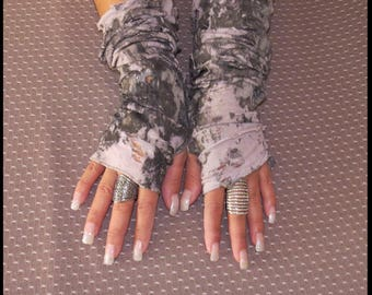 Post APOCALYPTIC Gloves Long Gloves IVORY Fingerless Apocalyptic Gloves