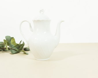 Vintage white porcelain coffeepot by Winterling