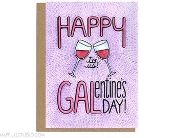 Galentine's Day Card, Funny Valentine's Card, Single Valentine, Funny Valentine, Valentine Card Friend, Anti Valentine, Galentine Gift