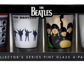 The Beatles 4-Pack Pint Glasses: Album