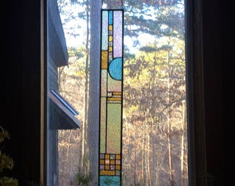 Elegant stained glass panel gift glass art suncatcher art glass home decor stained glass window