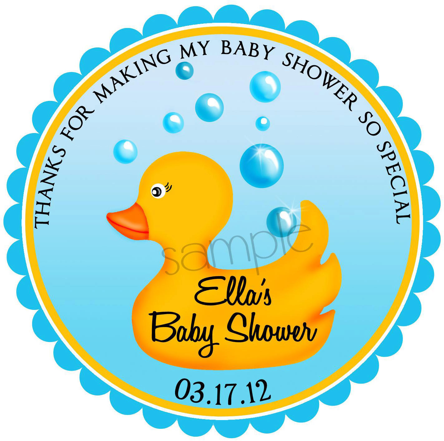 Rubber Ducky Stickers Rubber duck Baby Shower stickers