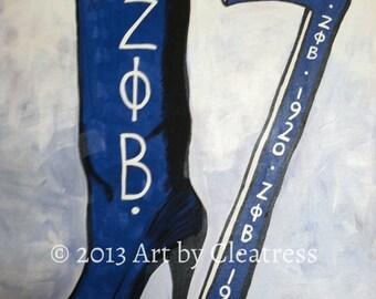 Zeta Phi Beta Boot Painting