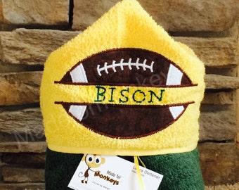 Kids Hooded Towels Football