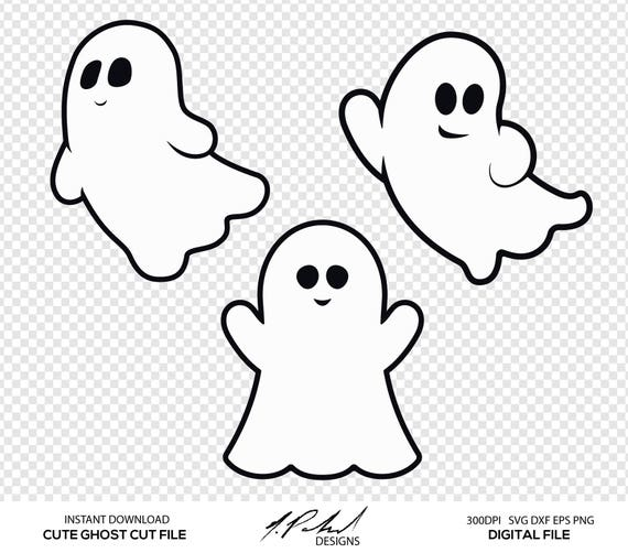 cute ghost digital cut files digital files ghost svg rh etsy com Cute Halloween Clip Art Cute Halloween Clip Art