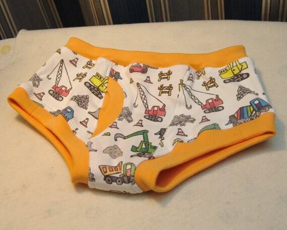 Construction Equipment Organic Boys Briefs Toddler Underwear