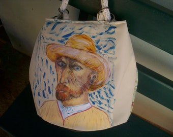 Art in bags. Painted handbags . Free shipping