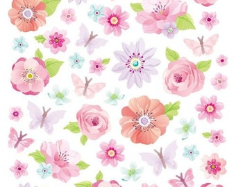 Pink Peonies Stickers • Flower Glitter Sticker • Botanical • Blossoms • Spring • Gardening • Floral Sticker • Peony Sticker (SK4920)