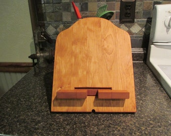 Cherry Cutting Board Style Mobile Device Stand
