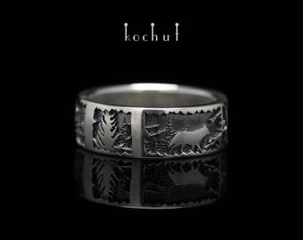 """Wolf ring, wolf rings. Silver wolf ring """"Winter's Tale. Wolf."""" Silver ring with a wolf from Kochut."""