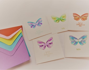 Handmade Gift Cards - set of 5