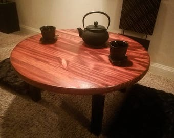 Handcrafted Round Chabudai Tea Table   Made To Order
