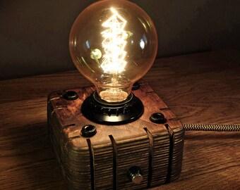 Edison Lamp Industrial lamp Steampunk lamp Wooden Edison Lamp Night Lamp Edison Bulb