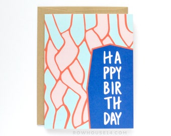 Happy Birthday Card - Abstract Birthday Card