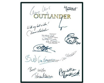 Outlander TV Script Signed Caitriona Balfe, Sam Heughan, Tobias Menzies, Diana  Gabaldon