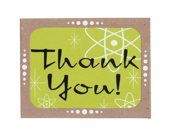 Sale! Retro Thank You Cards -- Boxed Set of Six