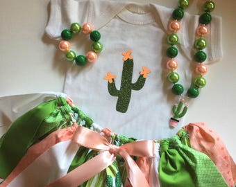 Cactus Skirt for Little Girls - Cactus Party Outfit - Birthday Girl Cactus Tutu Skirt  - Cactus Tutu - Girl Outfit - Birthday Outfit