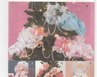 Angels Christmas Tree Topper Ornaments Free Standing Decoration Sewing Pattern 8206 Uncut 16 inches Susie Robbins Design