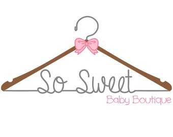 Premade sewing logo, design watermark, baby clothing boutique logo,
