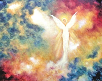 Angel Print Poster, Angel art print, Guardian Angel, Angel, Spiritual,