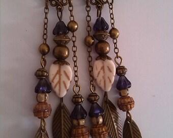 Long pair of earrings pendants
