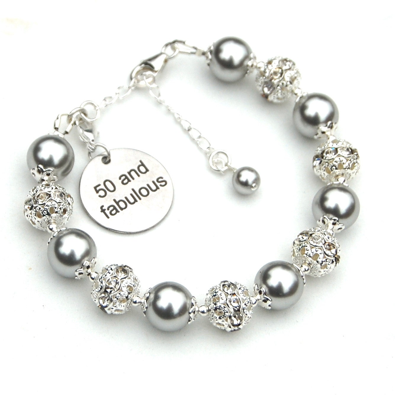 Special Sister 50th Birthday Charm Bracelet with Gift Box Women's Jewellery s0ggJlH1zd