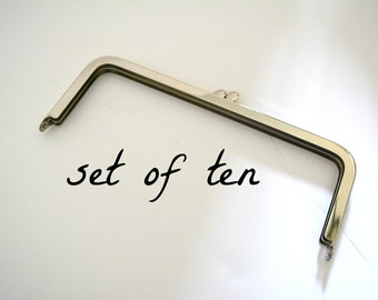 Set of Ten Metal Purse Frame - DIY Purse Hardware