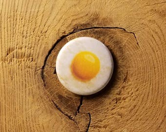 """Sunny Side Up (1-1/4"""" Pinback Button)"""