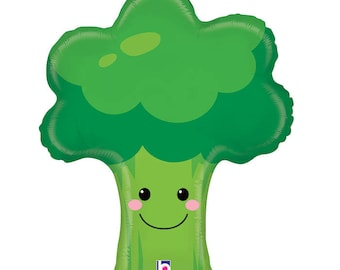 SHIPS FAST - Broccoli Balloon, Veggie Tales Party, Veggie Tales Birthday, Veggie Birthday Party - SHIPS 2-3 Business Days