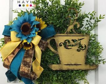 Coffee Bar Décor, Coffee Wreath, Coffee Décor, Wreath for Small Space, Screen Door Wreath, Wreath for Front Door