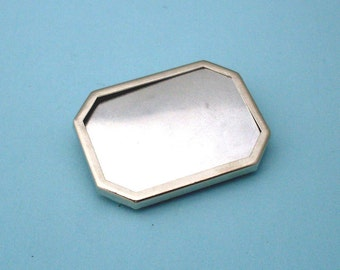 Silver Plated Pin Setting Frame Mounting 105ST