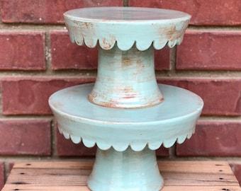 stand set - handmade - ceramic - stand - pottery - stoneware