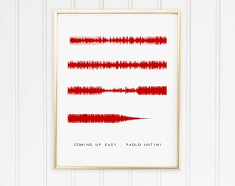 Portrait Sound wave Song Personalised Print