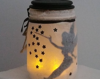 Tinkerbell with led tealight candle Lantern