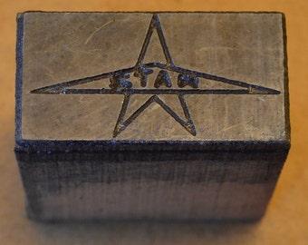 STAR logo printing block