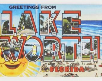 Greetings from Lake Worth Florida Fridge Magnet