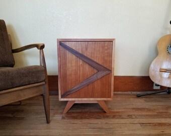small mid century modern nightstands boomerang handle end tables minimalist furniture bedside - Modern Nightstands
