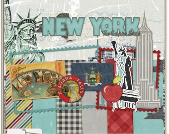 United States New York Mini Digital Scrapbook Kit