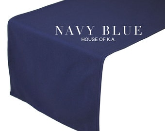 Navy Blue Table Runner 14 x 108 inches | Navy Blue Table Runners for Weddings, Banquet Events, Hotels, and Restaurants