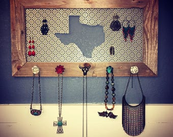 Wooden Texas Jewelry Display