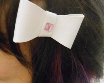 Two White Hair Bows