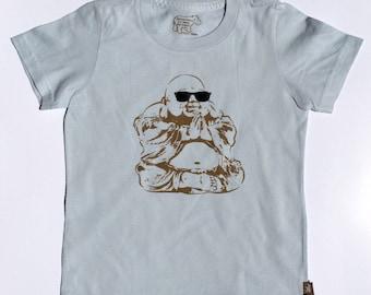 Organic S/S Light Blue Cool Buddha Tee - 2 to 12 years