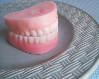 Denture Soap Peppermint Set - False Teeth, Gag Gift, Tooth Soap, Prank Soap, Mint Scented, Soap Dentures, Funny Soap, Over The Hill, Silly